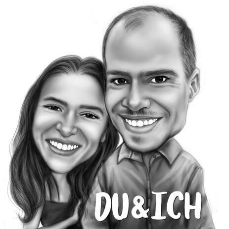 Romantic Couple Caricature - Me and You - example