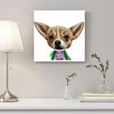 Dog Caricature from Photos Printed as Canvas