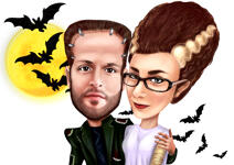 Caricature di Halloween example 1