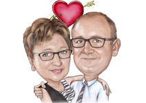 Couple Caricatures example 33