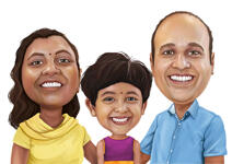 Family Caricatures example 10