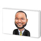 Photo Block with Business Caricature