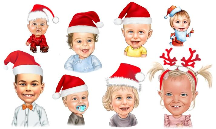 Christmas Kid Caricature large example