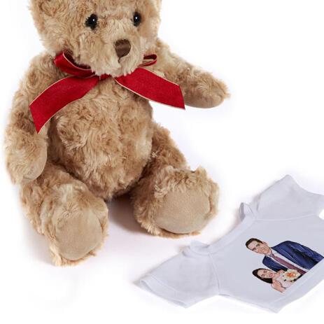 Bride abd Groom Caricature as Wedding Gift on Teddy Bear - example