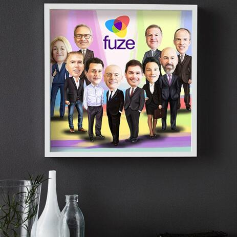 Employees Caricature on poster - example