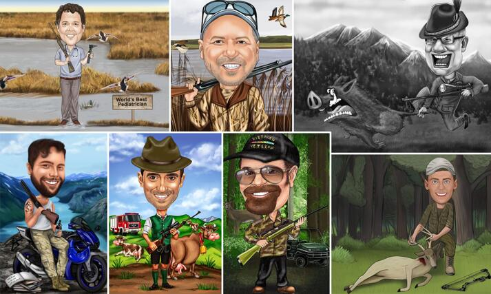 Hunter Caricatures large example