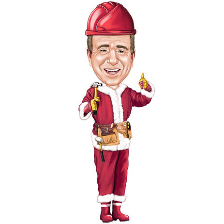 Christmas Caricature from Photos in Santa's Costume - example