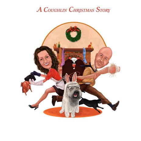 Christmas Story Custom Caricature from Photos - example