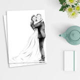 Newlyweds Caricature Drawing as Poster