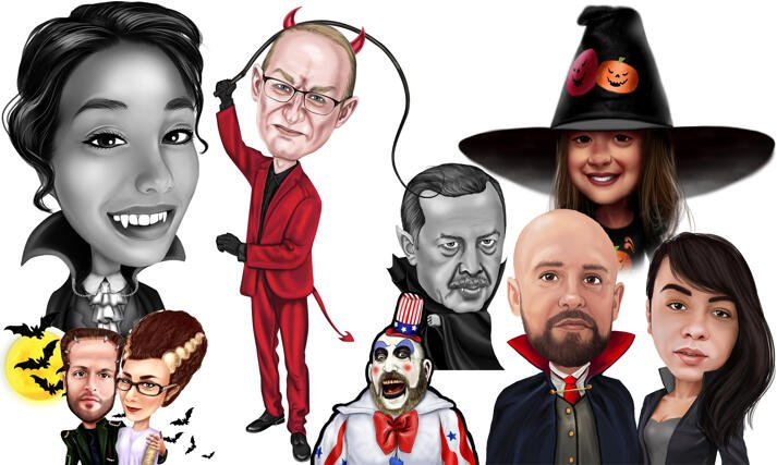 Halloween Caricatures large example