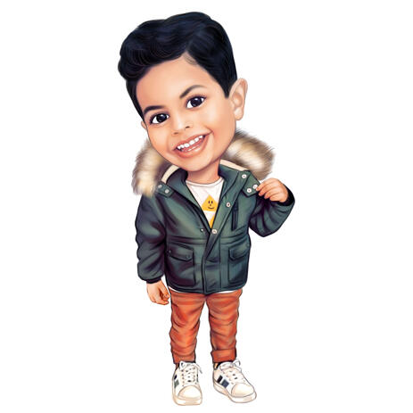 Full Body Child Caricature from Photos for Custom Gift - example