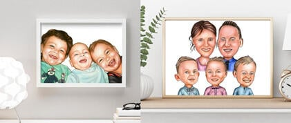 Kids Poster Caricature
