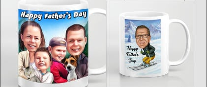 Father's Day Caricature Mug
