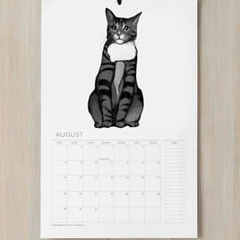 Cat Portrait from Photos on Calendar