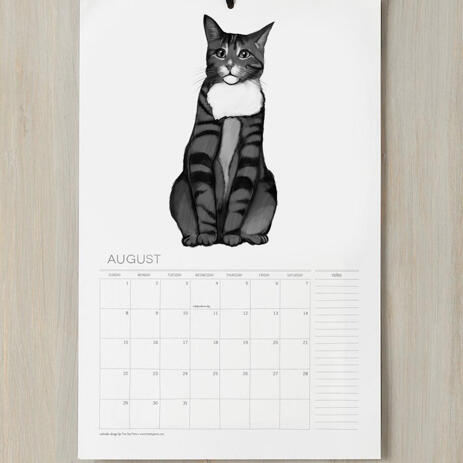 Cat Portrait from Photos on Calendar - example