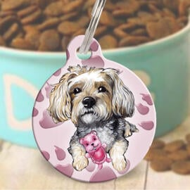 Pet Caricature Tag for Collar