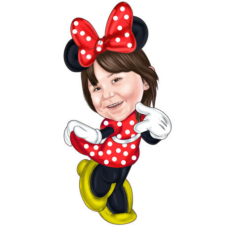 Kids Mickey Inspired Caricature in Colored Style from Photo - example