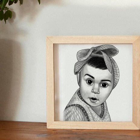 Kid Portrait from Photos as Printed Poster - example