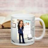 Employee Caricature on Cofee Mug
