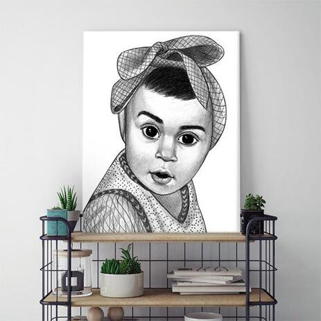 Kid Portrait from Photos as Printed Canvas - example
