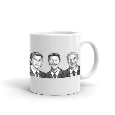 Caricature for Business Owners on Cofee Mug - example