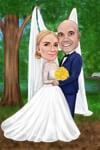 結婚式の風刺画 example 6