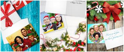 Christmas Caricature Cards