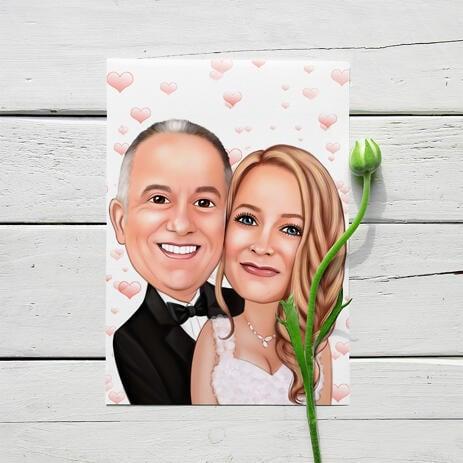 婚礼肖像印在海报上-新娘和新郎肖像 - example