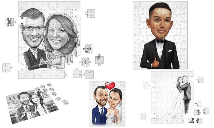 Caricature puzzle large example