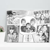 Family Collage Caricature as Canvas