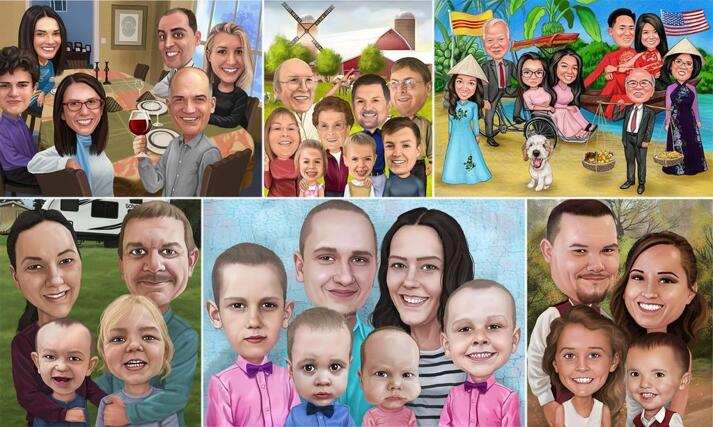 Thanksgiving Caricature large example