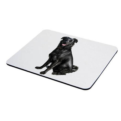 Dog Caricature Printed on Mouse Pad - example