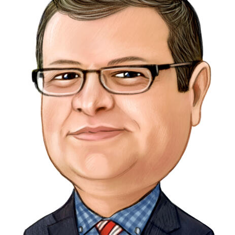Business Caricature from Photo for Professional Avatar - example