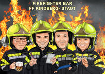 Firefighter Caricature example 1