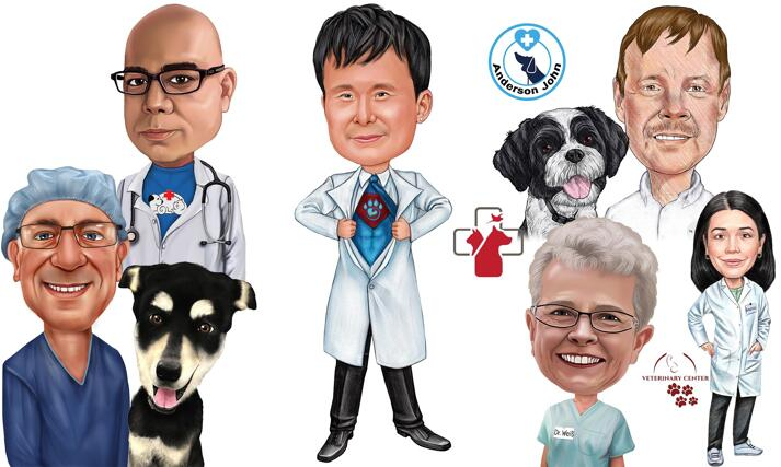 Veterinarian Caricature large example