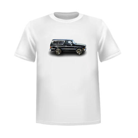 T-shirt Printed Custom Car Caricature in Colored Style from Photos - example