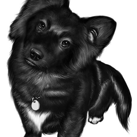 Aangepaste hond portret van foto's voor huisdier verjaardag of huisdier verlies cadeau - example