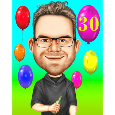 30 Anniversary Caricature Gift from Photos - example