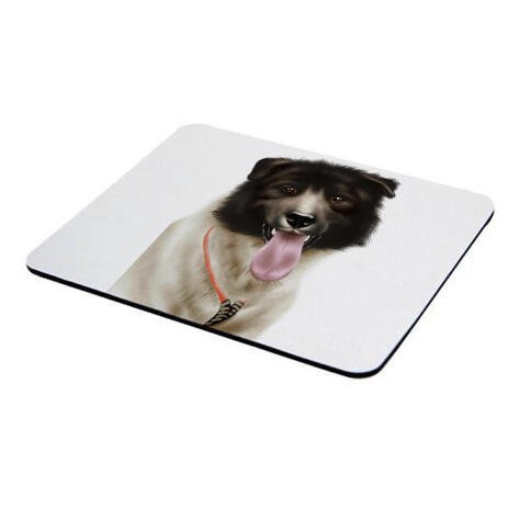 Dog Portrait from Photos on Mouse Pad - example