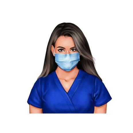 Retrato de enfermera de fotos con máscara - example