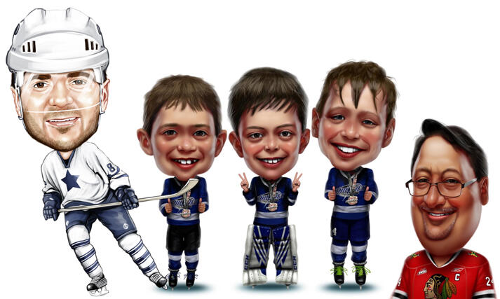 Hockey Caricatures large example