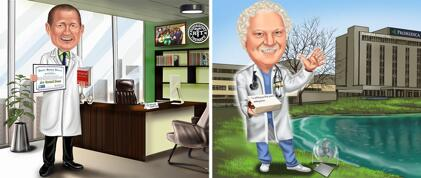Physician Caricature