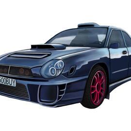 Car Cartoon Sketch from Photos for Car Fans