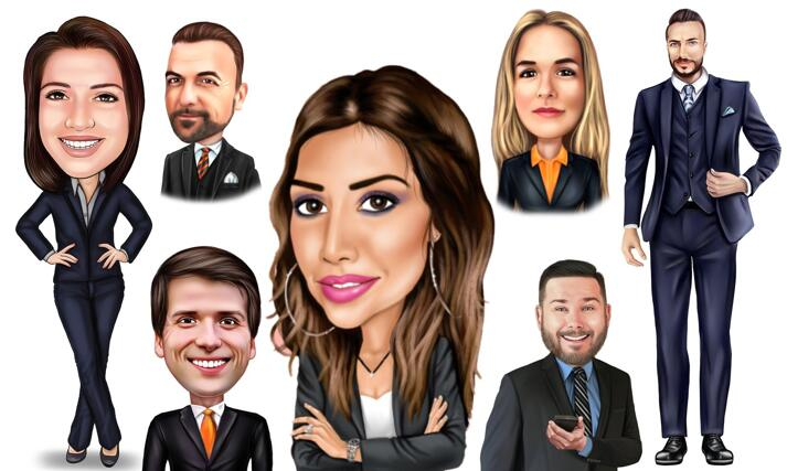 Business Caricature large example