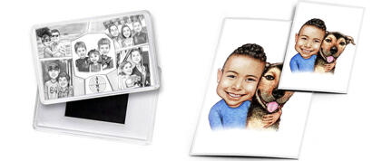 Kids Caricature Magnet