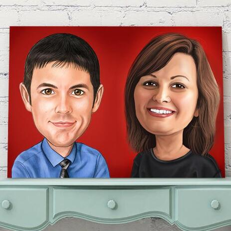 Corporate Caricature on Canvas - example