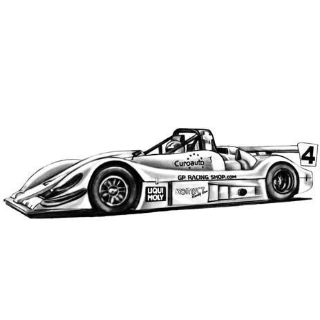 Car Sketch Drawing in Pencils - example