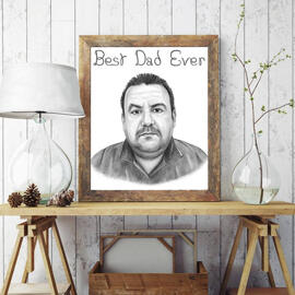 Personalized Photo Copy: Pencils Man Portrait Drawing