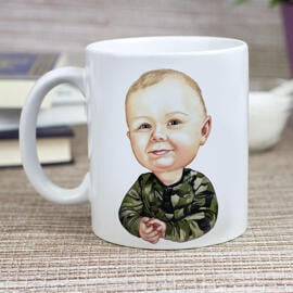 Toddler Caricature from Photos as Mug