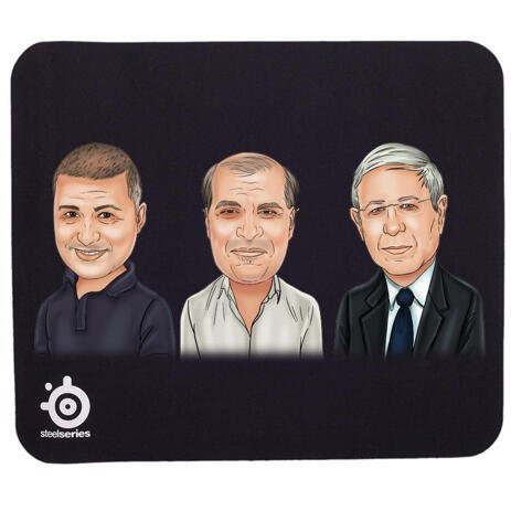 Corporate Group Caricature on Mouse Pad - example